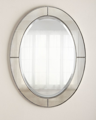 Oval Beaded Mirror
