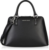 Armani Jeans Black Signature Bowler Bag