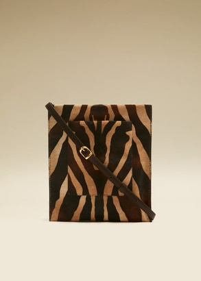 KHAITE The Lillian Pocket Pouch in Zebra Haircalf