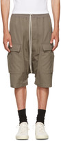 Rick Owens Grey Pods Cargo Shorts