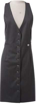John Richmond Grey Wool Dresses