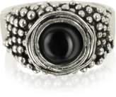 Giacomo Burroni Sterling Silver Ring w/Onyx