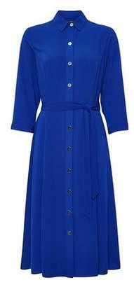Dorothy Perkins Womens Cobalt Blue 3/4 Sleeve Shirt Dress, Cobalt