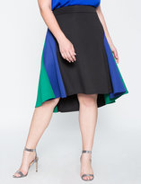 ELOQUII Plus Size Colorblock Flare Skirt