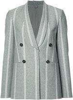 Brunello Cucinelli shawl lapel double-breasted blazer - women - Silk/Cotton/Polyamide/Cupro - 38