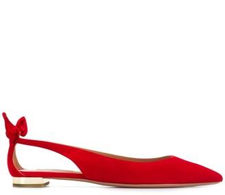 Aquazzura Bow Tie Ballerina Shoes