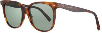 Celine Square Acetate Sunglasses, Light Tortoiseshell