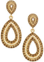 INC International Concepts Gold-Tone Crystal Openwork Teardrop Drop Earrings, Only at Macy's