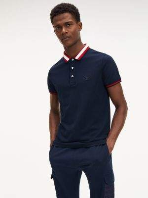 Tommy Hilfiger Knitted Tipped Collar Slim Fit Polo