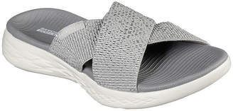Skechers On-The-Go 600 Glistening Womens Ankle Strap Footbed Sandals