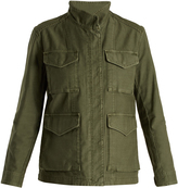 Vince High-neck cotton-gabardine jacket