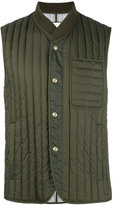 Moncler Gamme Bleu padded vest - men - Cotton/Feather Down/Polyamide/Cupro - 4