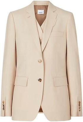 Burberry Mohair & Silk-Blend Integral Vest Jacket