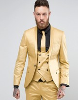 Noose & Monkey Super Skinny Suit Jacket In Metallic