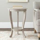 Safavieh Furniture Safavieh Heather Wood Pedastal Side Table in Grey