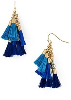 Aqua Katie Multi Tassel Drop Earrings — 100% Exclusive