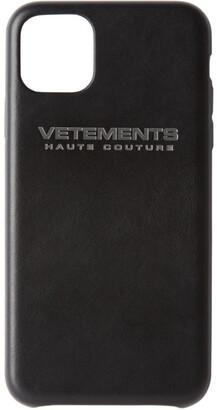 Vetements Black Logo iPhone 11 Pro Case