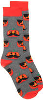 K. Bell Men's Cool Pumpkin Crew Socks