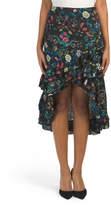 Juniors Ruffle Hem Midi Hi-lo Skirt