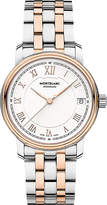 Montblanc 114369 Tradition stainless steel and red gold-plated watch