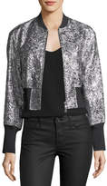 3.1 Phillip Lim Metallic Floral Burnout Bomber Jacket