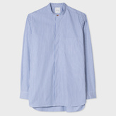 Paul Smith Men's Striped Band-Collar Shirt With 'Artist Stripe' Cuff