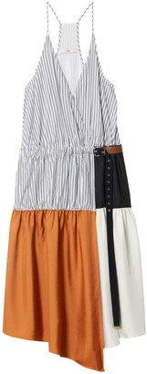 Tibi Camille Collage Wrap Dress