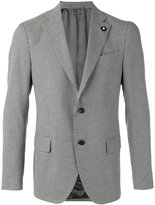 Lardini houndstooth pattern blazer - men - Cotton/Linen/Flax/Polyester/Viscose - 48