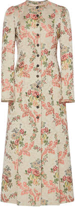 Brock Collection Palagano Floral Cotton-Blend Dress