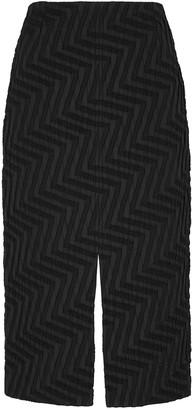 Roland Mouret Moka black jacquard pencil skirt