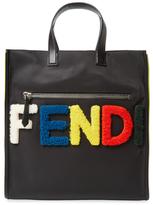 Fendi Shearling Fur Logo Tote