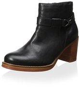 J Shoes Women's Bays Water Block Heel Ankle Boot with Strap