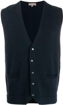 N.Peal herringbone cashmere waistcoat