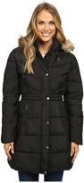 U.S. Polo Assn. Long Puffer Coat with Faux Fur Trimmed Hood
