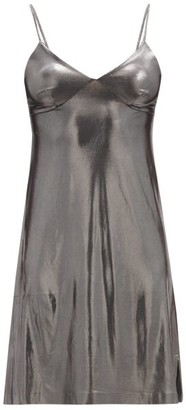 Norma Kamali V-neck Satin Dress - Silver