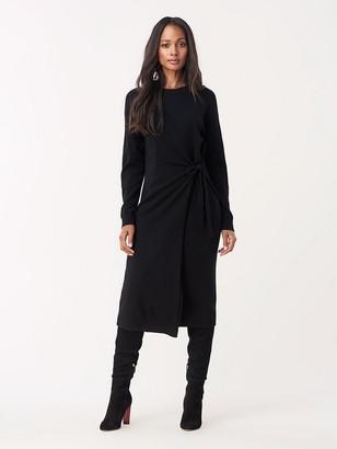 Diane von Furstenberg Althea Wool Cashmere Faux-Wrap Dress