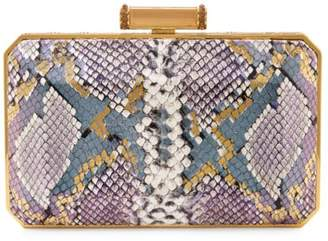 Judith Leiber Couture Soho Olivia Snakeskin-Embossed Leather Clutch