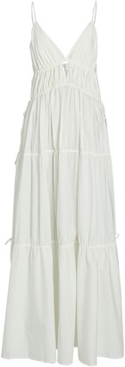 Jonathan Simkhai April Tiered Cotton Maxi Dress