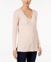 Calvin Klein Jeans Chevron-Texture V-Neck Sweater