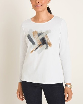 Chico's Chicos Foiled Brushstroke Tee