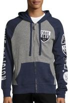 True Religion Colorblock Cotton-Blend Hoodie