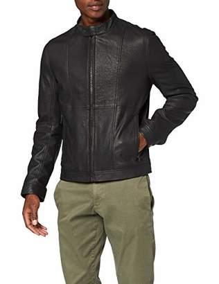 HUGO Men's Lecthor Jacket, (Black), Small