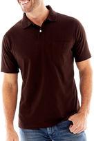 St. John's Bay Short-Sleeve Jersey Pocket Polo Shirt