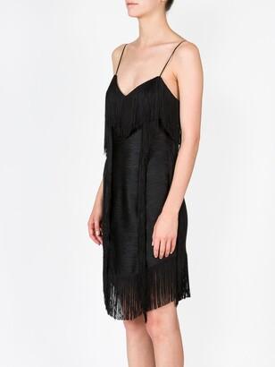Balmain patchwork fringe short dress