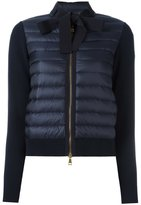 Moncler padded front tie collar jacket