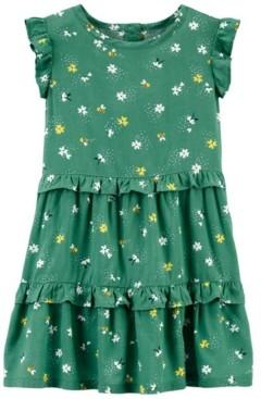 Carter's Toddler Girls Floral Bee Poplin Dress