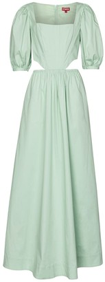 STAUD Astro stretch-cotton maxi dress