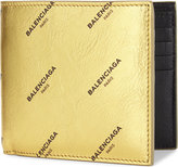 Balenciaga Logo leather billfold wallet