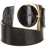 Etro Patent Leather Wide Belt
