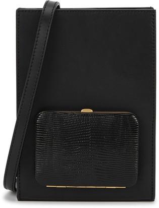 Lutz Morris Parker Book black leather cross-body bag